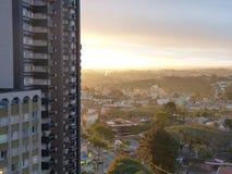 Zonsondergang Curitiba PR Brazilië Stock Fotografie
