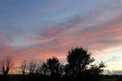 Zonsondergang in Dartmoor Royalty-vrije Stock Fotografie