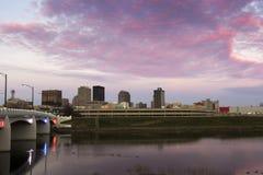 Zonsondergang in Dayton Stock Foto