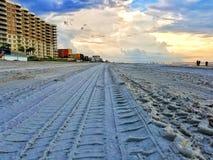 Zonsondergang in Daytona Beach Stock Foto's