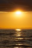 Zonsondergang in de Atlantische Oceaan Royalty-vrije Stock Afbeelding