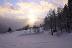 Zonsondergang in de berg Royalty-vrije Stock Foto's