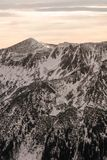 Zonsondergang in de bergen Royalty-vrije Stock Foto