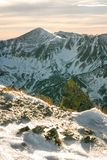 Zonsondergang in de bergen Royalty-vrije Stock Afbeeldingen