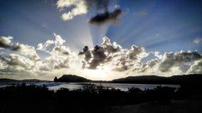 Zonsondergang de Caraïben Royalty-vrije Stock Afbeeldingen