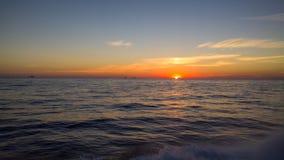 Zonsondergang in de Golf Royalty-vrije Stock Afbeelding