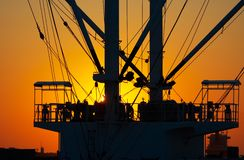Zonsondergang in de haven royalty-vrije stock foto's