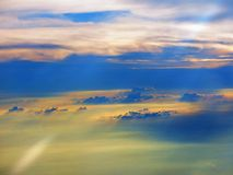 Zonsondergang in de hemel Royalty-vrije Stock Foto