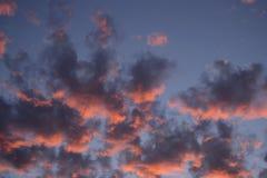 Zonsondergang in de hemel van Jeruzalem Royalty-vrije Stock Afbeelding