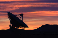 Zonsondergang in de hoge woestijn Stock Fotografie
