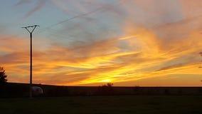 Zonsondergang in de horizon Royalty-vrije Stock Afbeeldingen