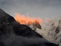 Zonsondergang in de Kaukasus Stock Foto's