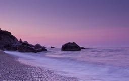 Zonsondergang in de Krim Stock Afbeelding