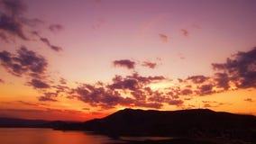 Zonsondergang in de Krim royalty-vrije stock foto's