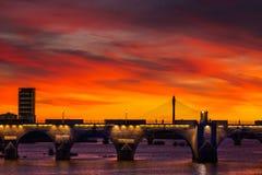 Zonsondergang in de lente Royalty-vrije Stock Afbeelding