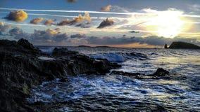 Zonsondergang in de Maagdelijke Eilanden Stock Foto