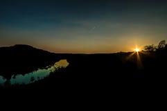 Zonsondergang in de Moezel Royalty-vrije Stock Afbeeldingen