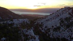 Zonsondergang in de Provence stock footage