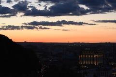 Zonsondergang in de stad Royalty-vrije Stock Afbeelding
