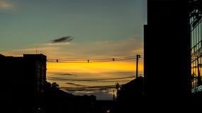 Zonsondergang in de tijd van Vientiane Evenning Stock Afbeelding