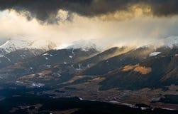 Zonsondergang in de vallei Royalty-vrije Stock Afbeelding