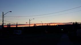 Zonsondergang in de vallei Stock Afbeeldingen