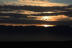 Zonsondergang - de Vallei van de Dood Royalty-vrije Stock Afbeeldingen