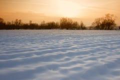 Zonsondergang in de winter Stock Foto's