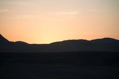 Zonsondergang in de woestijn van Sinai royalty-vrije stock fotografie