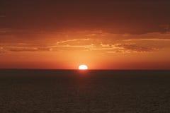 Zonsondergang in de Zuid-Pacifische Oceaan Stock Foto's