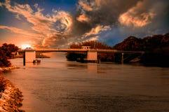 Zonsondergang de Zuid- van Florida Stock Afbeeldingen