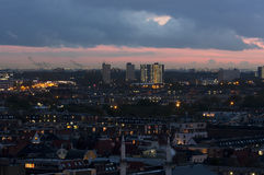 Zonsondergang in Den Haag royalty-vrije stock foto's
