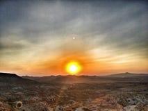 Zonsondergang in Devrent Royalty-vrije Stock Afbeelding