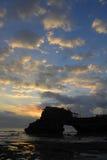 Zonsondergang dichtbij Partij Tanah stock foto