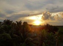 Zonsondergang dichtbij Soliman Bay Stock Foto
