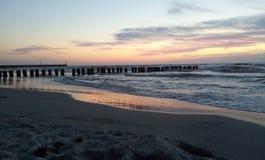 Zonsondergang door de Oostzee Stock Fotografie