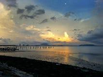 Zonsondergang door het overzees Royalty-vrije Stock Fotografie