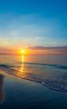 Zonsondergang door het overzees Royalty-vrije Stock Afbeelding