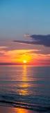 Zonsondergang door het overzees Royalty-vrije Stock Afbeeldingen
