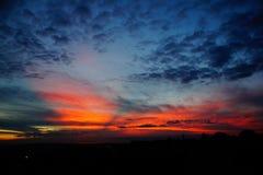 zonsondergang Duitsland Royalty-vrije Stock Foto's