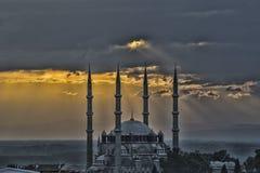 Zonsondergang in Edirne royalty-vrije stock foto's