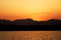 Zonsondergang in Egypte Stock Afbeelding