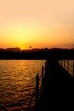 Zonsondergang in Egypte Stock Fotografie