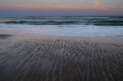Zonsondergang, Emerald Isle, Noord-Carolina stock fotografie