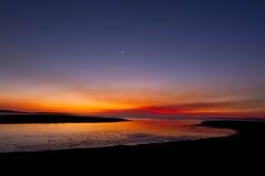 Zonsondergang en sterren Stock Foto