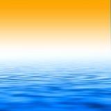 Zonsondergang en water royalty-vrije illustratie