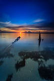Zonsondergang en zonsopgang Stock Fotografie