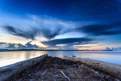 Zonsondergang en zonsopgang Stock Foto