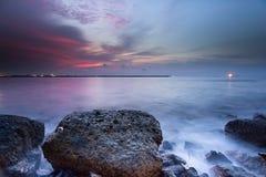 Zonsondergang en zonsopgang Royalty-vrije Stock Afbeeldingen