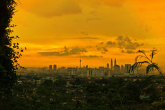 Zonsondergang en zonsopgangmening Royalty-vrije Stock Afbeelding